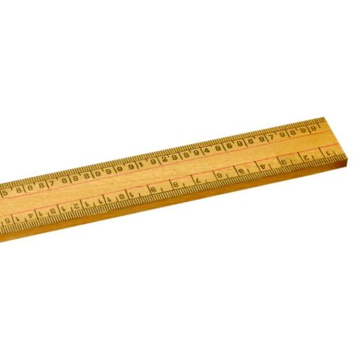 HALF Metre Wooden Ruler CM Both Edges