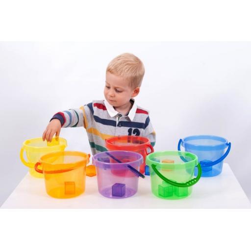 Translucent Colour Bucket Set - Pk6