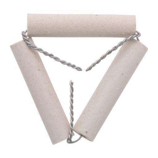 Clay pipe triangle, 7.5cm