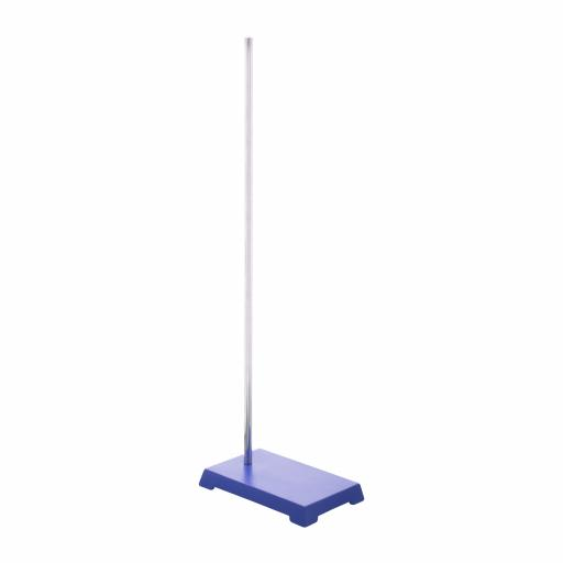 Retort stand base, rectangular, base 20x12.5cm, rod 60cm