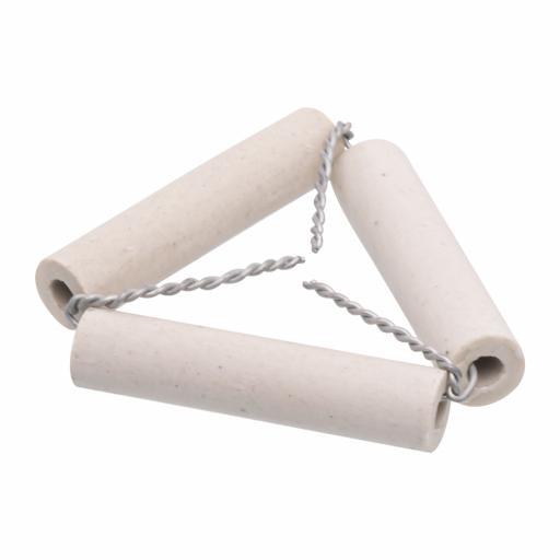 Clay pipe triangle, 5cm